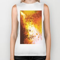 horses Biker Tanks featuring Horses by Vitta