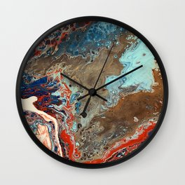 Terracotta Blue Wall Clock