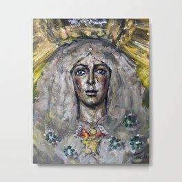 Esperanza Macarena of Seville with candle light Metal Print