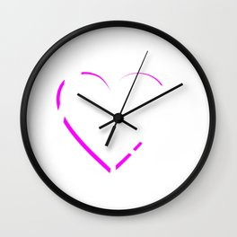 Womens Heart Love Hairdresser Gift Salon Hairstylist Print Wall Clock
