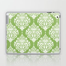 Green Damask Laptop & iPad Skin