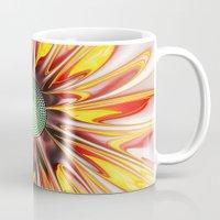 sunflower Mugs featuring Sunflower by Klara Acel
