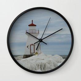 Frozen Lighthouse Wall Clock