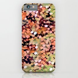 Micro Confetti Peach Lime iPhone Case