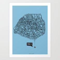 Spidermaps #1 Dark Art Print