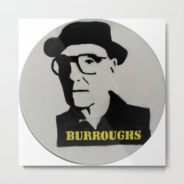 William S. Burroughs Record Painting Metal Print