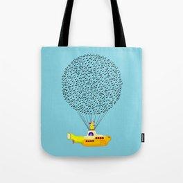 Musical Yellow Submarine Tote Bag