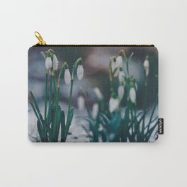 Snowdrops in Glitter. Carry-All Pouch