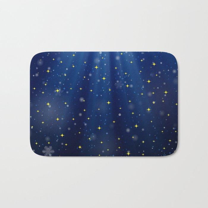 A Starry Winter's Night Bath Mat