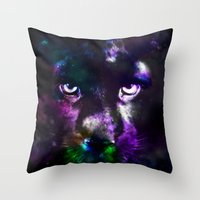 panther Throw Pillows featuring Panther by haroulita