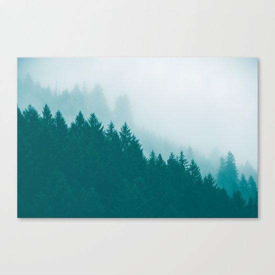 Green Mountain Fog Canvas Print