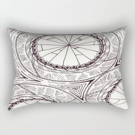 Geometric Circles Rectangular Pillow