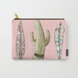 feathers and cactu  Carry-All Pouch