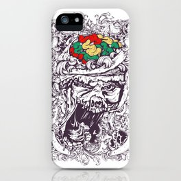 Skull with Brain OUT iPhone Case