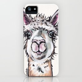 Maggie the Alpaca, Alpaca Art iPhone Case