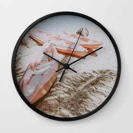 boat life ix / alona beach, philippines Wall Clock