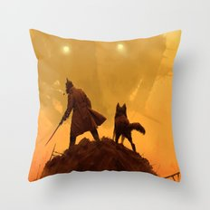 1920 - take your dog for a walk Throw Pillow