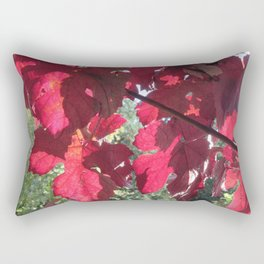 Vivid Red Leaves in Autumn Rectangular Pillow
