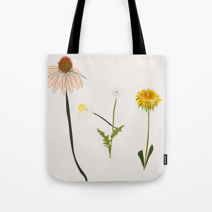 Goldfinch Cream Botanicals Tote Bag