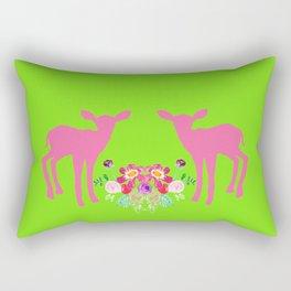 Flora & Fawn Rectangular Pillow