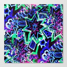 Pop Art Blues Canvas Print