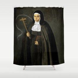 """Diego Velázquez """"Madre Jerónima de la Fuente"""" Shower Curtain"""