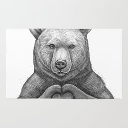 Bear with love Rug
