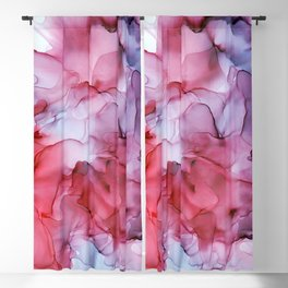 Rose Violet Purple Ink Swirls Abstract Peony Blackout Curtain
