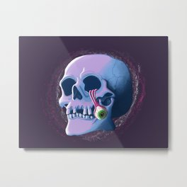 Colourful Skull Metal Print