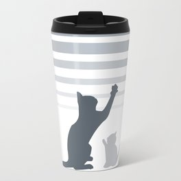 Urban Grey Cats Travel Mug
