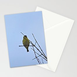 Little Yellow Bird Tree Bare Branches Stationery Cards