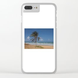 Karon Beach palm tree Clear iPhone Case