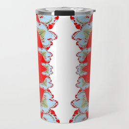 DESIGN PATTERN OF RED & WHITE BUTTERFLIES Travel Mug