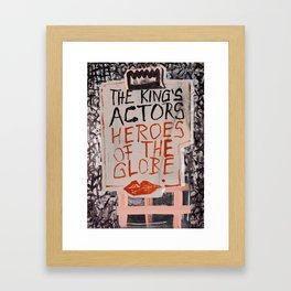 The Globe Kiss Framed Art Print