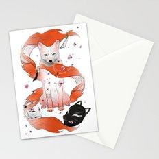 Red Kitsune Stationery Cards