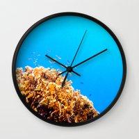 school Wall Clocks featuring School by Tyler Lucas