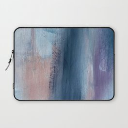 In a Blur: an abstract mixed media piece in pinks, blues, and purple Laptop Sleeve
