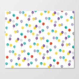 Balloons watercolor Canvas Print