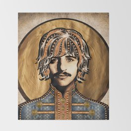 Boho Beatle ( Ringo ) Throw Blanket