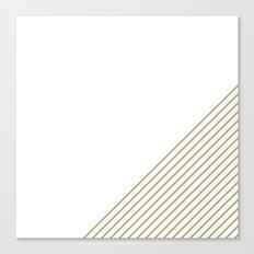 Tan & White Stripes  Canvas Print
