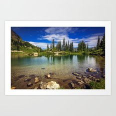 Mountain Lake in the Mt Rainier National Park Art Print