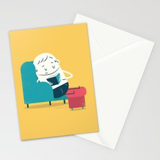 :::Reading on sofa::: Stationery Cards