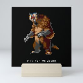 O is for Owlbear Mini Art Print