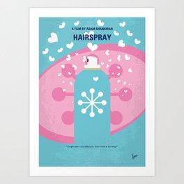 No856 My HAIRSPRAY minimal movie poster Art Print
