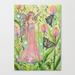 Spring Tulip Fairy Canvas Print