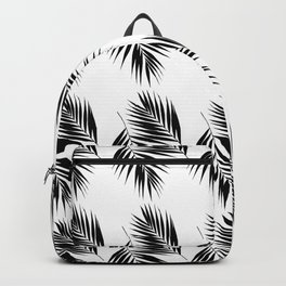 Palm Leaves Pattern #12 #Black #White #decor #art #society6 Backpack