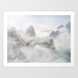 Palace of the Sky Dragons Art Print