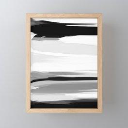 Soft Determination Black & White Framed Mini Art Print
