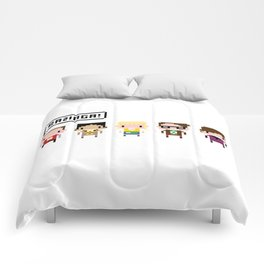 The Big Bang Theory Pixel Characters Comforters
