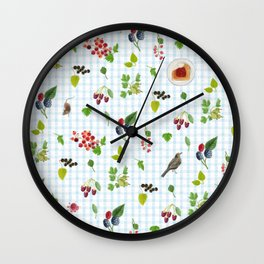 Merry Berries Wall Clock